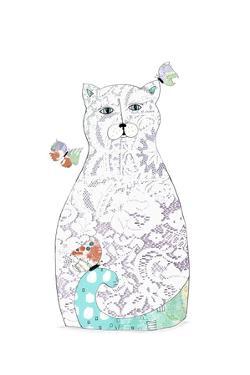 Lace Cat by Sarah Ogren