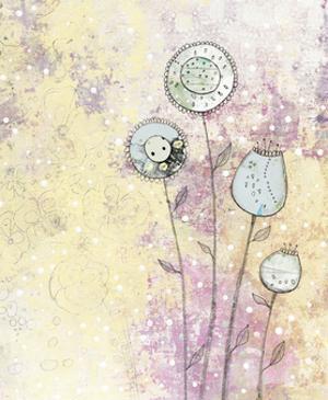Lavender Floral Abstract by Sarah Ogren