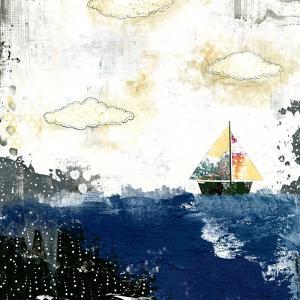 Ocean and Sailboat by Sarah Ogren
