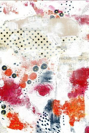 Orange and Fuschia Abstract II