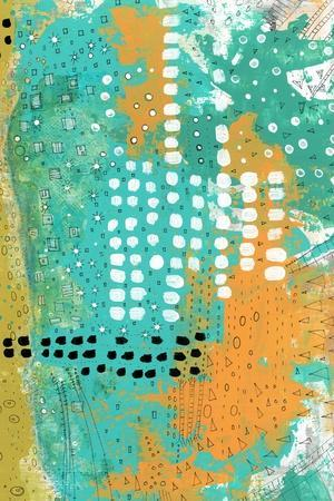Orange and Green Abstract