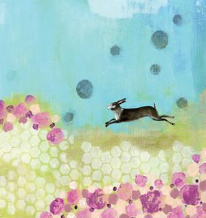 Purple and Yellow Bunny by Sarah Ogren