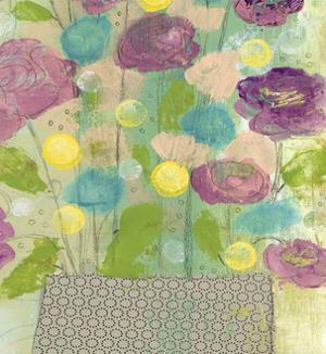 Purple and Yellow Floral II by Sarah Ogren