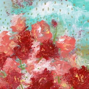 Red and Pink Floral by Sarah Ogren