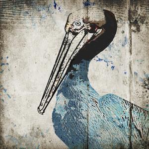 Rustic Blue Pelican by Sarah Ogren