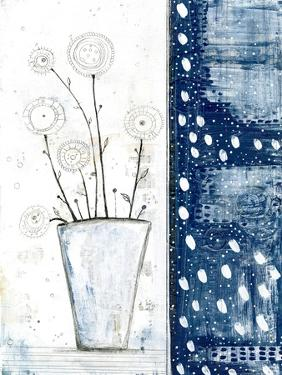 White and Navy Floral by Sarah Ogren