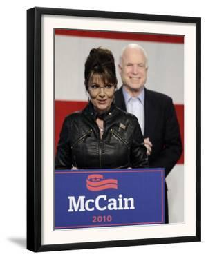 Sarah Palin Talks at a Campaign Rally for Senator John McCain at Pima County Fairgrounds in Tucson