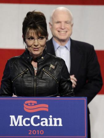 Sarah Palin Talks at a Campaign Rally for Senator John McCain at Pima County Fairgrounds in Tucson