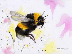 Bumble Bee Watercolor by Sarah Stribbling