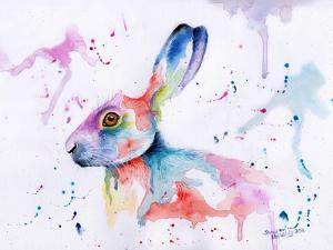 Hare Watercolour by Sarah Stribbling