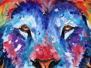 Lion Abstract by Sarah Stribbling