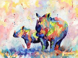 Rhinos by Sarah Stribbling
