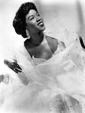 Sarah Vaughan (1924-1990) American Jazz Singer and Pianist C. 1945
