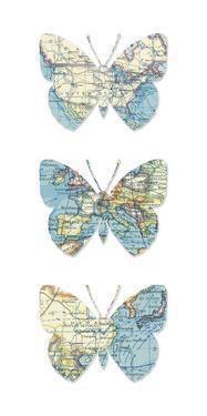 Map Butterflies by Sasha Blake