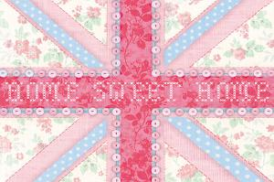 Union Jack, Home Sweet Home by Sasha Blake