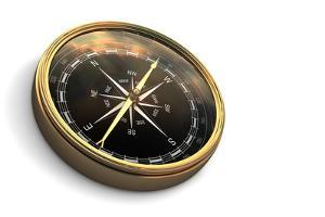 Vintage Compass Isolated on White by Sashkin