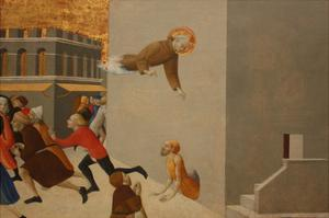 The Blessed Ranieri Frees the Poors from a Florentine Jail by Sassetta