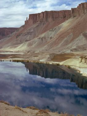 Reflections of Mountains in the Water of the Band-I-Amir Lakes in Afghanistan by Sassoon Sybil