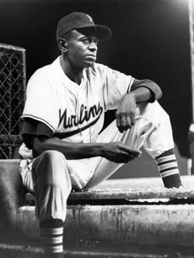 Satchel Paige in His Miami Marlins Uniform, August 15, 1958