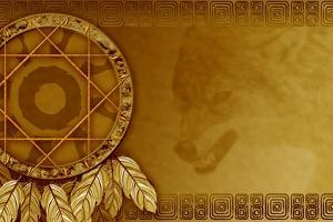 American Dreamcatcher With Wolf by Sateda