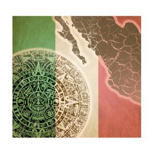 Background With Mayan Calendar by Sateda