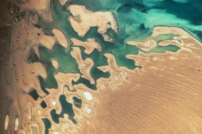 Satellite view of Balkan coastal area of Turkmenistan