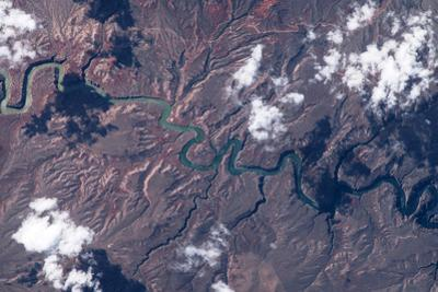 Satellite view of Big Horn River, Montana, USA