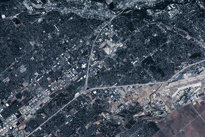 Satellite view of Boise, Idaho, USA