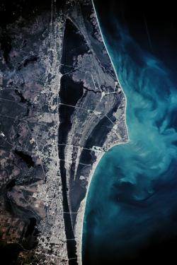 Satellite view of Cape Canaveral, Brevard County, Florida, USA