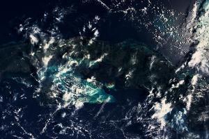 Satellite view of clouds over Gulf of Mexico