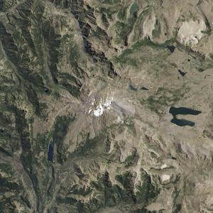 Satellite View of Copahue Volcano