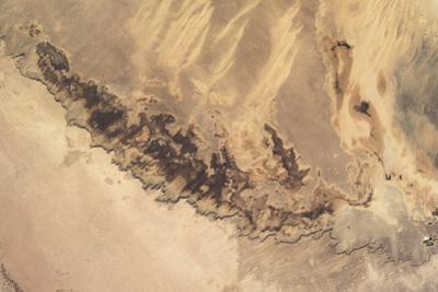 Satellite view of desert area, Minya Governorate, Egypt