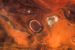 Satellite view of desert area, Tamanrasset, Algeria