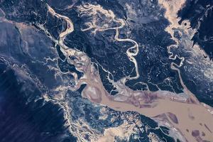 Satellite view of estuary, Camballin, Western Australia, Australia