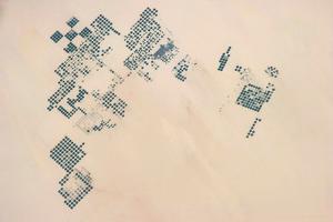 Satellite view of fields in North Darfur, Sudan