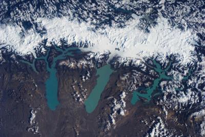 Satellite view of Glaciers of Patagonia, Natales Glaciers of Patagonia, Natales, Magallanes and...