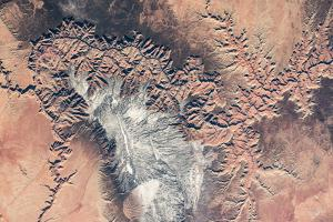 Satellite view of Grand Canyon, Arizona, USA