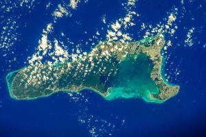 Satellite view of Grand Cayman