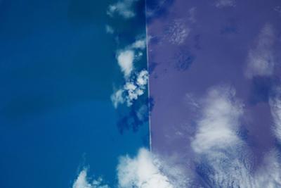 Satellite view of Great Salt Lake, Utah, USA