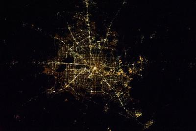 Satellite view of Houston, Texas, USA