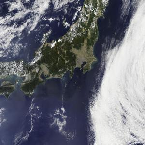 Satellite View of Japan
