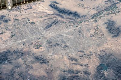 Satellite view of Las Vegas, Nevada, USA