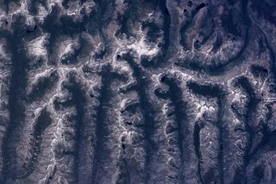 Satellite view of mountain range, Idaho, USA