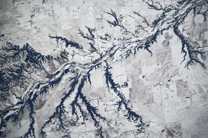 Satellite view of Neobrara River near Newman Grove, Nebraska, USA