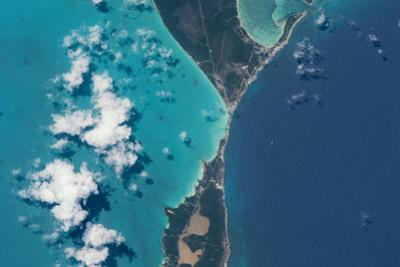 Satellite view of North Eleuthera Island, Bahamas