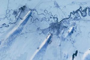 Satellite view of Pavlodar Province, Kazakhstan