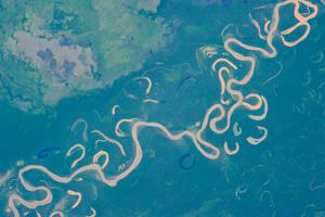 Satellite view of Plains in Beni Department, Bolivia