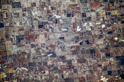 Satellite view of Redfield, Spink County, South Dakota, USA