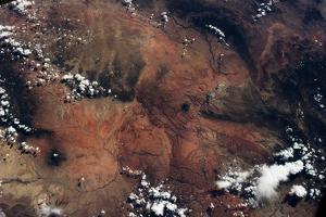 Satellite view of rocky landscape, Grand Canyon, Arizona, USA