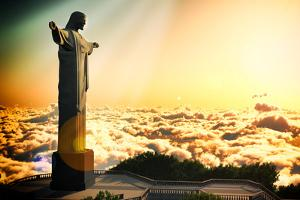 Famous Statue Of The Christ The Reedemer, In Rio De Janeiro, Brazil by Satori1312